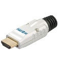 Розєм,FreeEnd-HDMI,/M Metal-plug D=2.7mm Gold,срібний